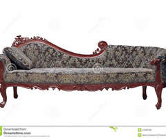 Classic Sofa Contemporary Style In Vintage Room Stock Photo