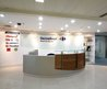 New Design Office Reception Desk With Wood Decoration Lines