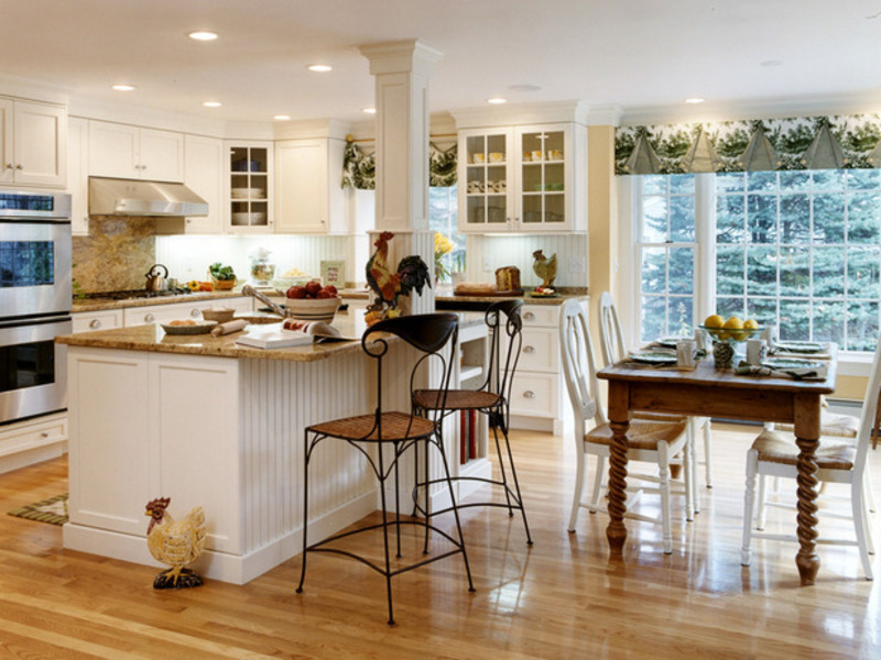 Perfect White Country Kitchen Designs With Small White Country ...
