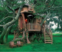 Marvelous Outdoor Tree Houses For Kids
