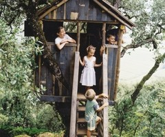 Rustic Kids Tree House Inspiration