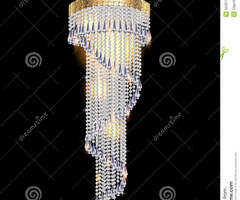 Modern Chandelier With Crystal Pendants Royalty Free Stock Photography
