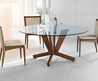 Modern Round Dining Table With Glass Top