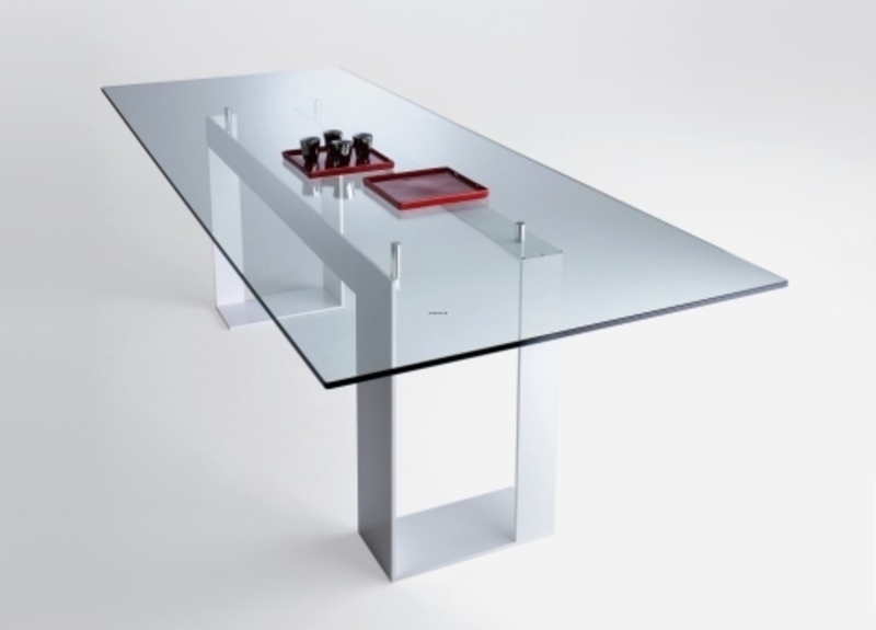 contemporary glass dining tables miles dining table