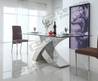 China 2014 Modern Glass Dining Table And Stainless Steel Dining Table
