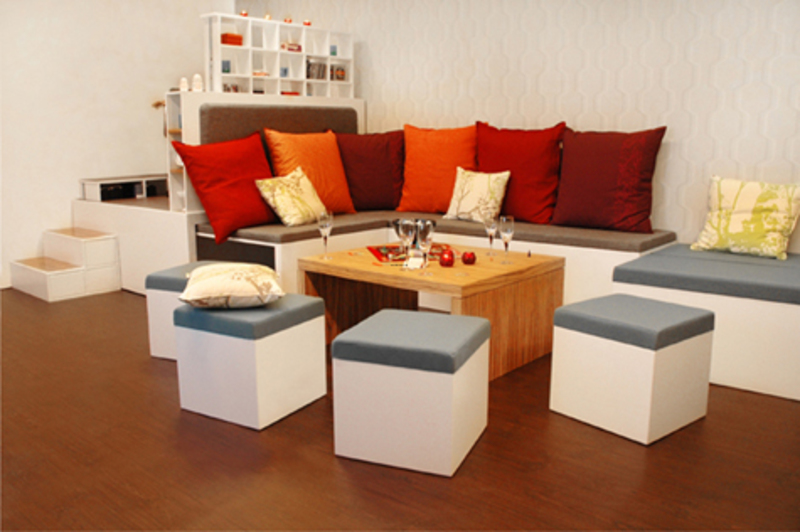 Furniture for small spaces living room design bookmark for Creative furniture for small spaces