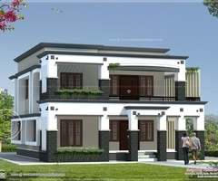 Roof House Design 241 Square Meter Flat Roof House Indian House