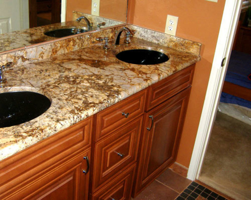 Granite Bathroom Countertop With Dark Sinks Bathroom Granite Countertops Granite With