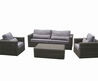 Samuel White Leather Pcs Living Room Set Sofa Loveseat And Chair