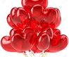Birthday Balloons Red Translucent Heart Shaped Decoration For.. Stock Photo, Picture And Royalty Free Image. Pic 9666372.