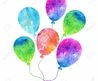 Colorful Inflatable Balloons  Birthday Card Decoration  Royalty Free Cliparts, Vectors, And Stock Illustration. Pic 20748961.