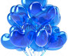 Party Balloons Blue Cyan Heard Shaped Birthday Balloon Decoration Translucent. Love Valentine's Day 14 February Sweetheart Friendship Romantic Greeting Card Design Element. 3d Render Isolated Stock Photo 78493462