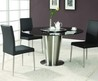 Modern Exclusive Round Marble Top Leather 5 Piece Dining Room Set