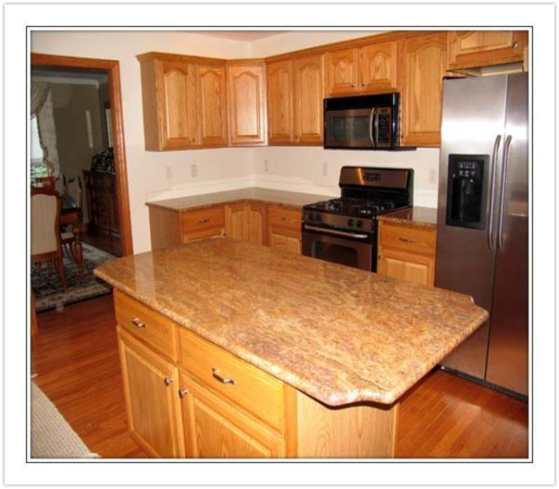 Oak Cabinet Kitchen Ideas Top Medium Oak Kitchen Cabinets: Oak Kitchen Cabinets With Granite Countertops Ptrqhgt