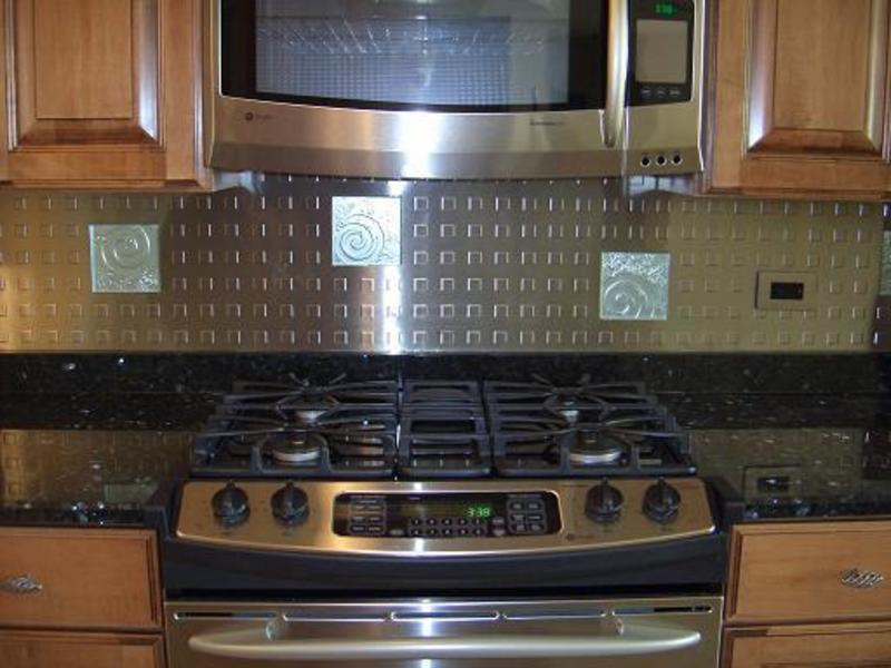 Stainless steel backsplash ideas design bookmark 19332 Kitchen backsplash ideas stainless steel