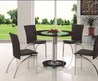 Glass Top Tables Dining Sets Chrome, Wood
