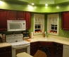 Kitchen Soulful Kitchen Colors Using Inspiring Paint For Walls And Brown Kitchen Cabinet And Brown Kitchen Island Inspiration Cool Green Kitchen