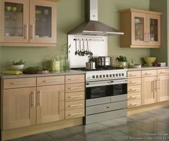 In A Attempt To Learn To Like My Beech Kitchen Cabinets As There Is Nothing Wrong With Them Maybe A Change Of Wall Colour To This Would Be Nice