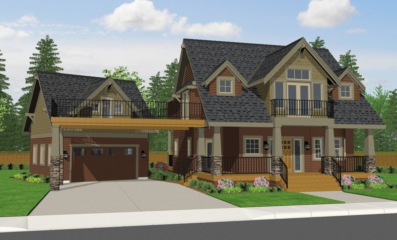 Craftsman Style Home Colors Design Bookmark 19582