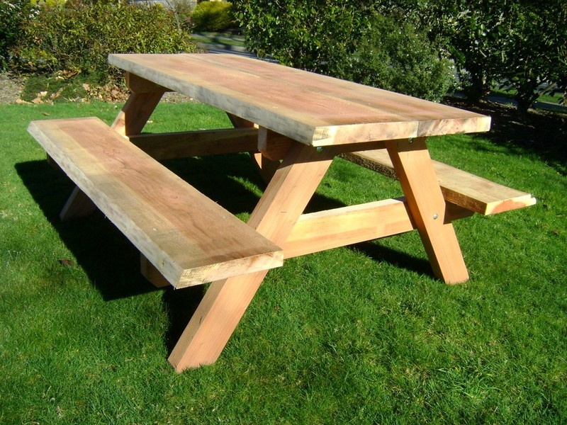 Outdoor Furniture, Build Wood Patio Table