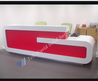China New Design White Red Reception Table For Office Decor Photos & Pictures