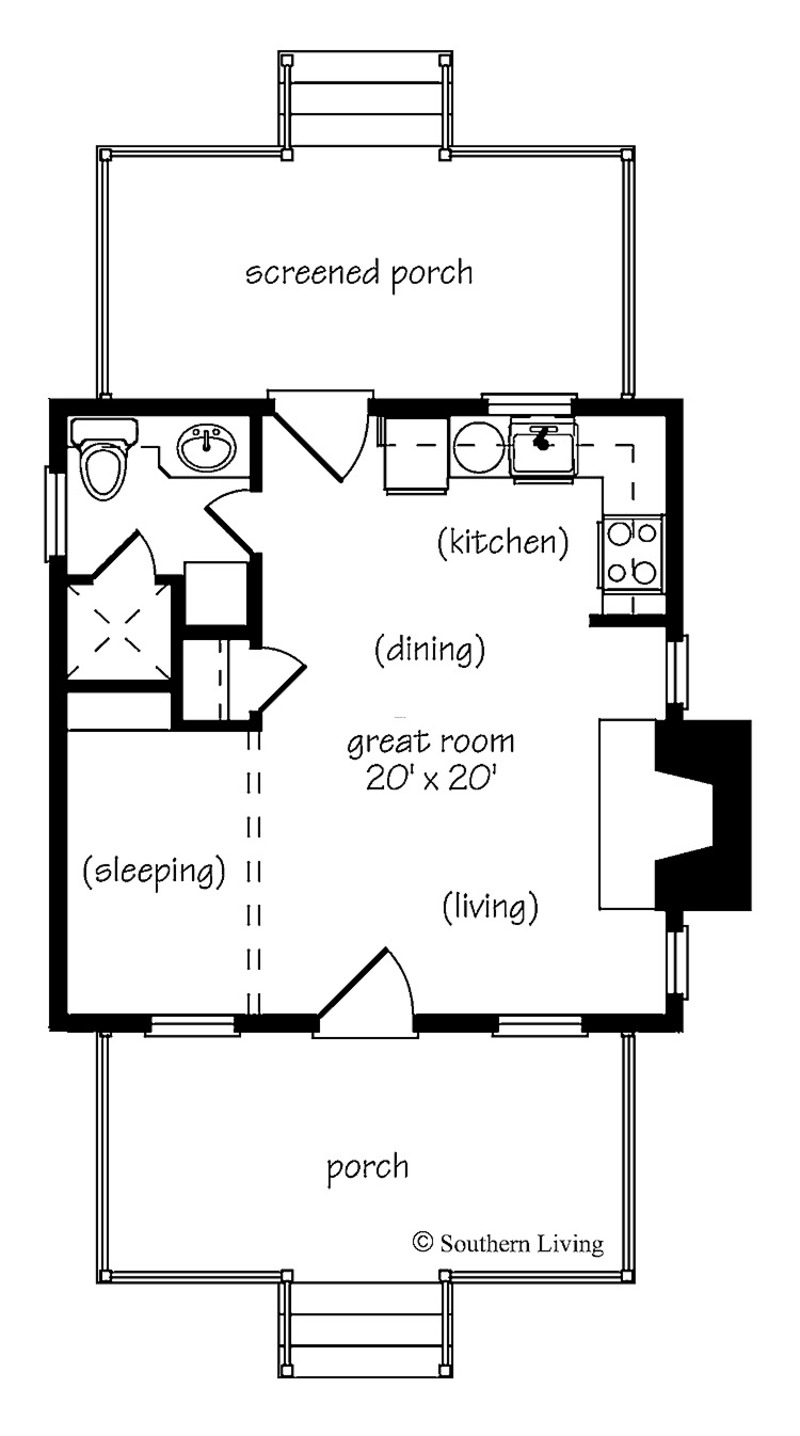 One Room House Plans Magnificent Design On House Design