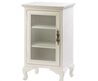 Simply White 3 Shelf Storage Cabinet With Glass Door D1148