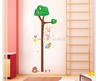 Free Shipping Pvc Tree Height Wall Stickers Decor Kids Room Refrigerator Decal Natural Wind Modern Removable Home Decoration