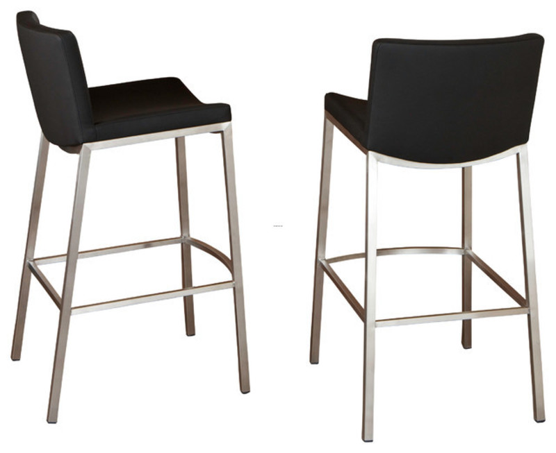 Shop Steel Black Vinyl Stool Bar Stools And Counter Stools