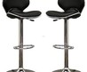 Orion Black Faux Leather Modern Bar Stool