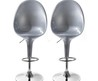 Lot De 2 Chaises De Bar Egg Gris