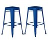Fit The Home » Blue Colored Of Discount Bar Stools In Square Shape Has Sloping Legs And Square Foot Steps