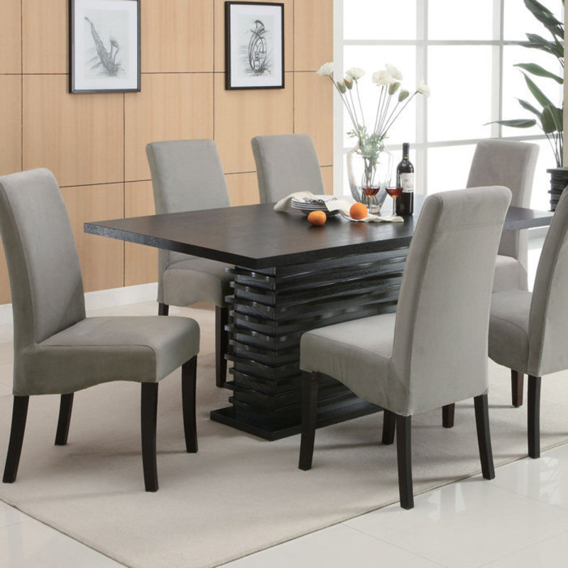 32 Stylish Dining Room Ideas To Impress Your Dinner Guests: Stanton Contemporary Dining Table At Brookstone—Buy Now