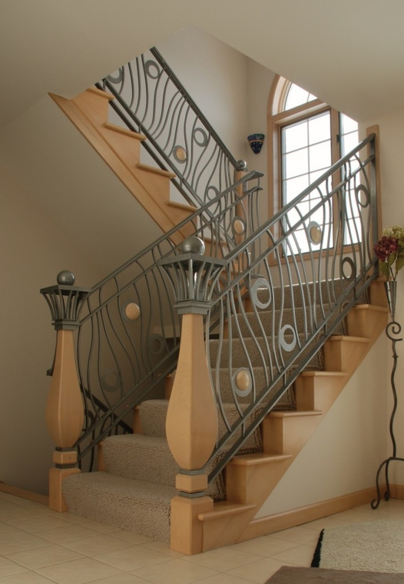 Iron stair railings interior design bookmark 20077 for Interior iron railing designs
