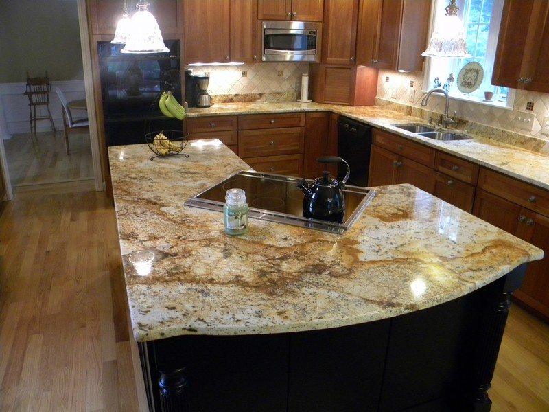 Rustic Kitchen With Granite Countertops : Golden rust design bookmark