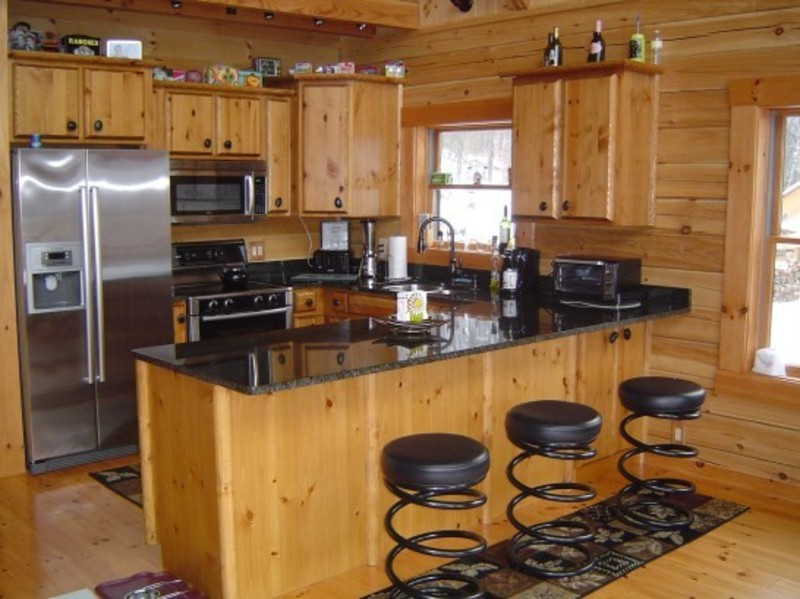Rustic Stone Countertops : Elegant concepts of rustic kitchen cabinets designed by