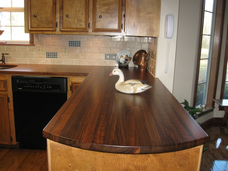 Granite Countertops Wonderful Rustic Dark Brown Walnut