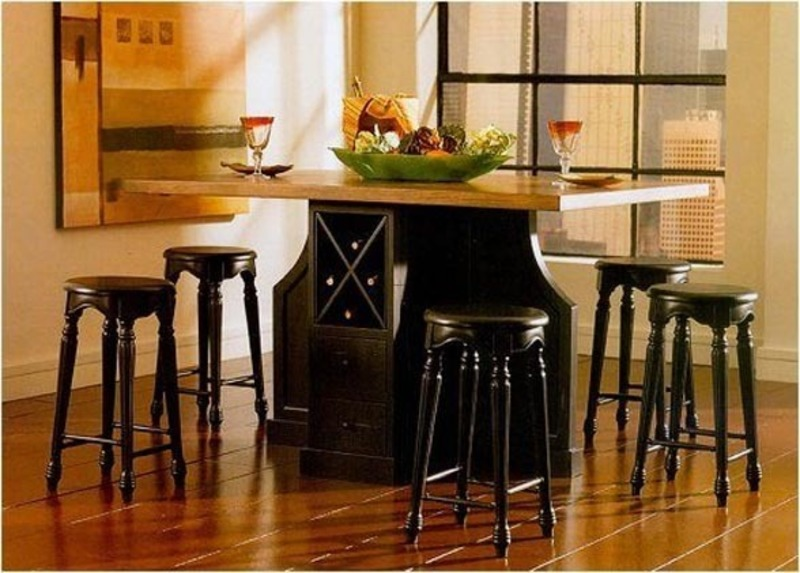 Small kitchen table with storage underneath sets ideas for Small kitchen table with storage