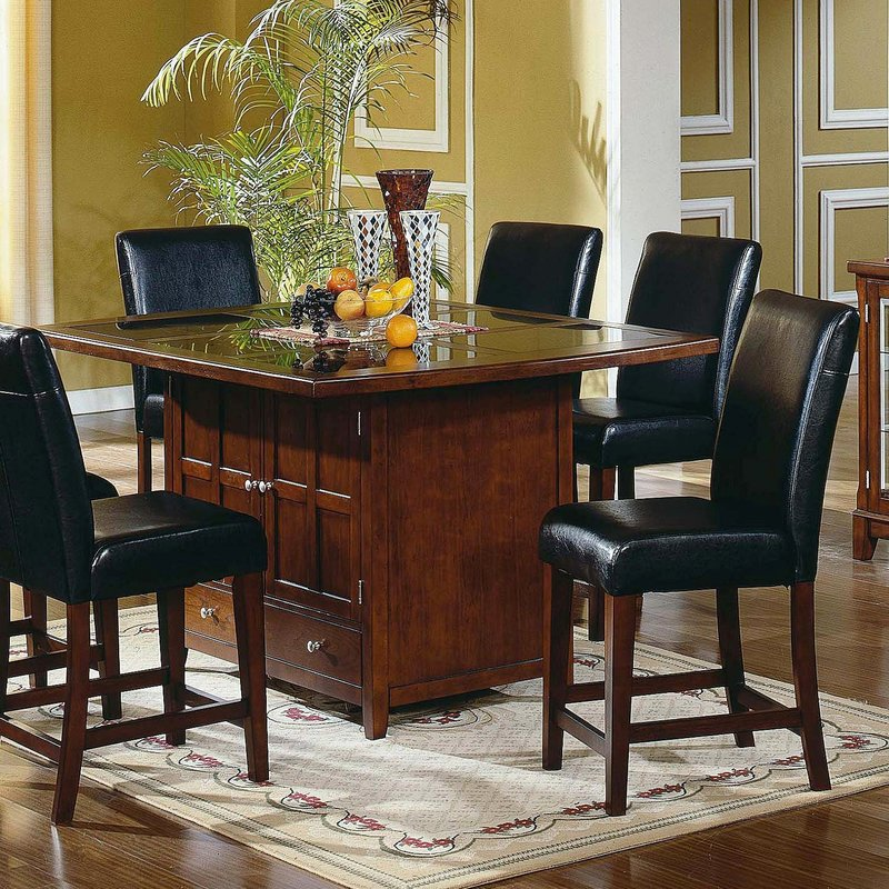 masculine and wood dining table design with