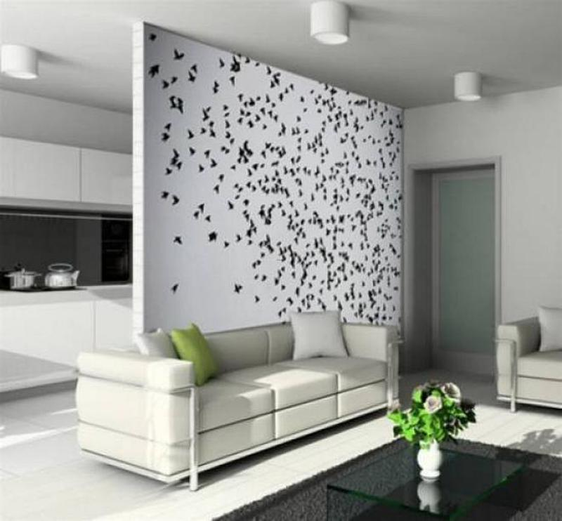 Decorating Ideas Unique Living Rooms: Wallpaper Accent Wall Ideas Living Room Amazing Interior