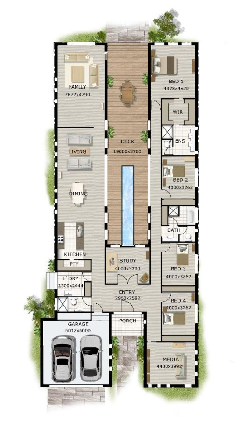 Contemporary house plans on pinterest design bookmark 20468 - Single story 4 bedroom modern house plans ...