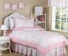 Pink Toile Girls Bedding Twin Or Full/Queen Kids Comforter Sets