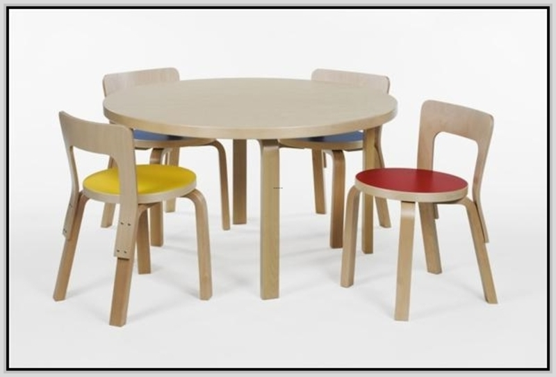 Kids furniture tables and chairs design bookmark 20517 for Round table furniture chair table design