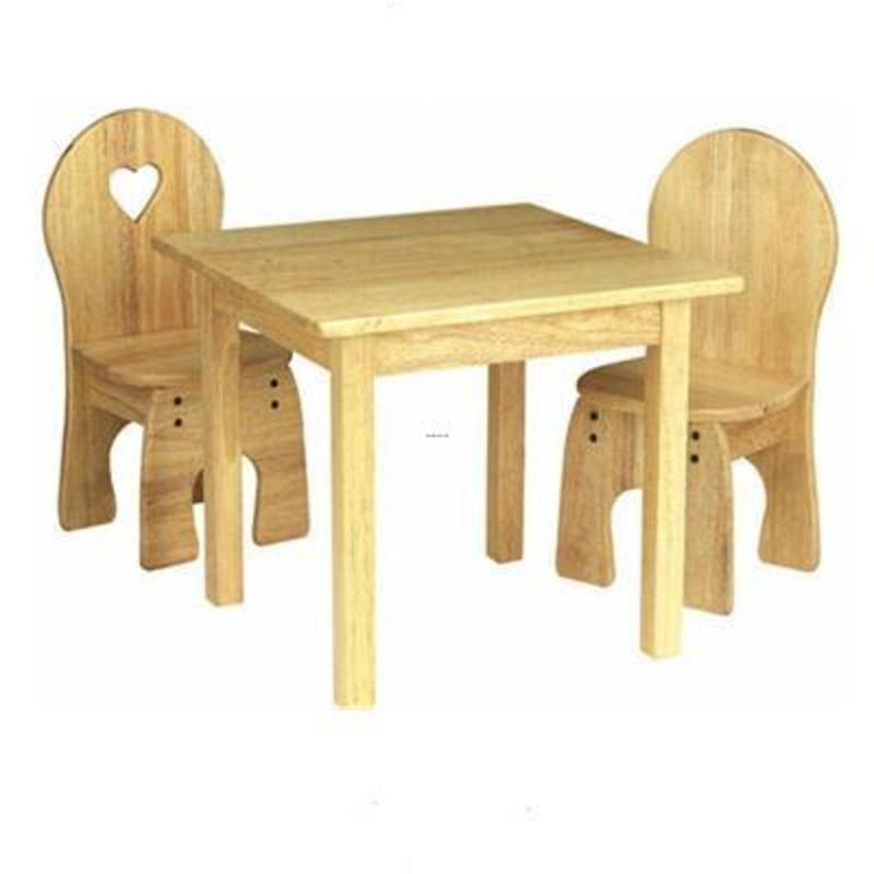 Wood Table And Chairs Wooden Kids Furniture Room