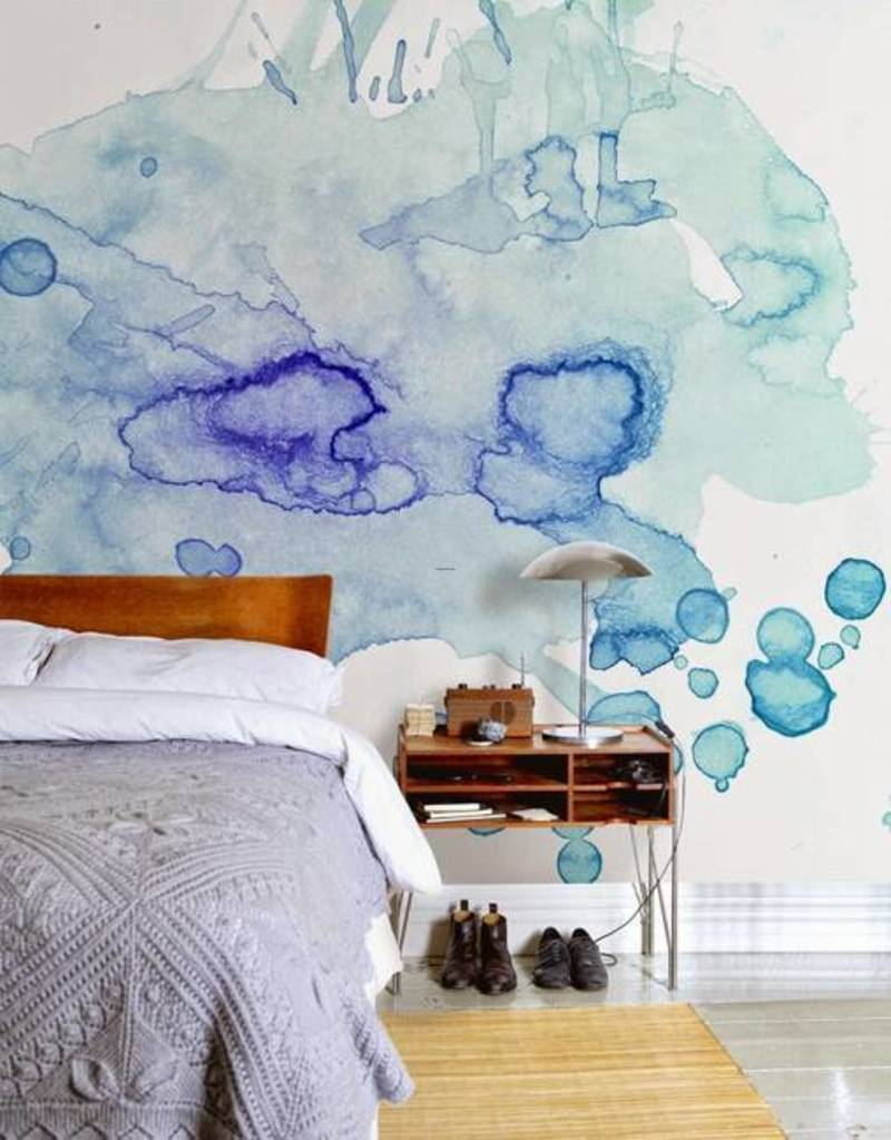 20 modern wall painting ideas watercolor and ombre - How to paint murals on bedroom walls ...