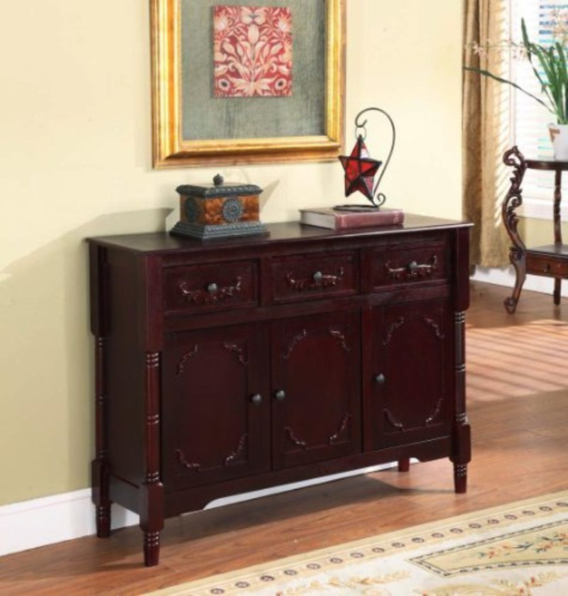 King s brand r wood console sideboard table with