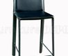 Set Of Two Black Faux Leather Modern Bar Stools
