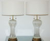 Vintage Murano Clear Glass Lamps By The Marbro Lamp Company At 1stdibs