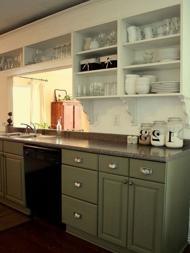 Painted kitchen cabinets ideas as kitchen remodeling ideas for Painted cabinets in kitchen