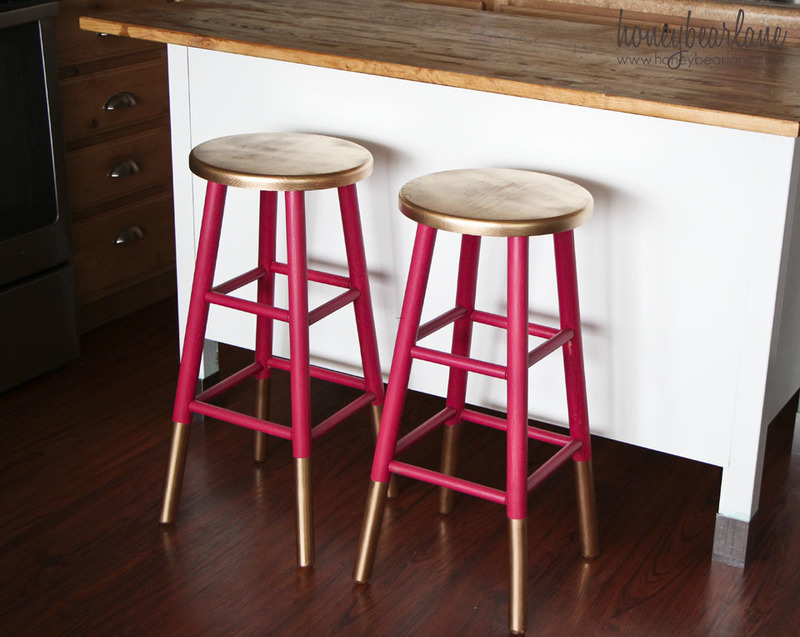 Bar Stools, Gold Dipped Bar Stools